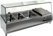 Витрина охлаждаемая настольная HICOLD VRTG 2 к столу для пиццы PZ3-11