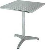 Стол алюминиевый квадратный