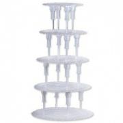 Подставка-этажерка пятиярусная 230х380х680 мм для торта [30142]