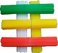 Палочки пластиковые Россия для сахарной ваты, разноцветные (100 шт.)