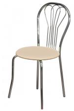 Стул «Ванесса» с мягким сиденьем (хромированный каркас)