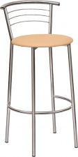 Стул «Марко» барный с мягким сиденьем (хромированный каркас)