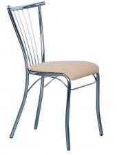 Стул «Эмили» с мягким сиденьем (хромированный каркас)