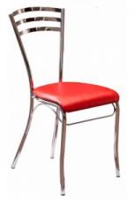 Стул «Кармен» с мягким сиденьем (хромированный каркас)