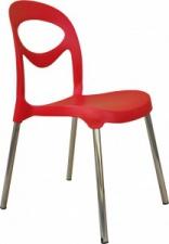 Стул «Fiati» с жестким сиденьем (хромированный каркас)