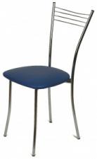 Стул «Хлоя» с мягким сиденьем (хромированный каркас)