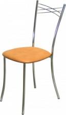 Стул «Бабочка» с мягким сиденьем (хромированный каркас)