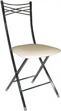 Стул М8 складной с мягким сиденьем (хромированный каркас)