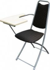 Стул складной со столиком М4-051 с мягким сиденьем (окрашенный каркас)