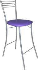 Стул барный М9-01 складной с мягким сиденьем (хромированный каркас)