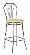 Стул барный «Ванесса Хокер» с мягким сиденьем (хромированный каркас)