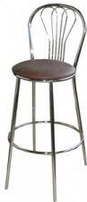 Стул барный «Ромашка» с мягким сиденьем (хромированный каркас)