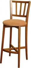 Стул барный «Чарли» с мягким сиденьем (деревянный каркас)