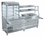 Мини-линия раздачи «Аста» ПВХМ-70КМУ (Прилавок-витрина холодильный мармитный универсальный)