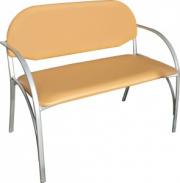 Диван двухместный М117-012 с мягким сиденьем (окрашенный каркас)