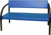 Диван офисный «Д2» с мягким сиденьем (окрашенный каркас)