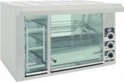 Гриль карусельный для приготовления кур СИКОМ МК-8.8В со встроенной тепловой витриной
