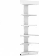 Стеллаж пристенный угловой с навесом и освещением (внешний) Н=2300