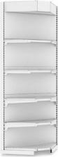 Стеллаж пристенный угловой с навесом и освещением (внутренний) Н=2300