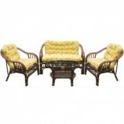 Комплект мебели из ротанга MPD-SAVANA DARK BROWN/TPC-001