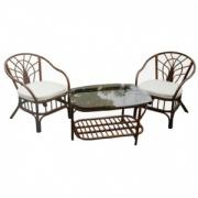 Комплект мебели из ротанга MPD-ROGER BLACK/COTTON VW