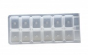 Форма для льда «Прямоугольники» GHIDINI 215х100 мм 2 шт [49372]