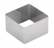 Форма для выпечки/выкладки гарнира или салата «Квадрат» 80х80 мм